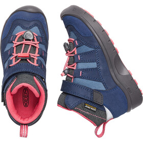 Keen Kids Hikeport Waterproof Mid Shoes Dress Blues/Sugar Coral
